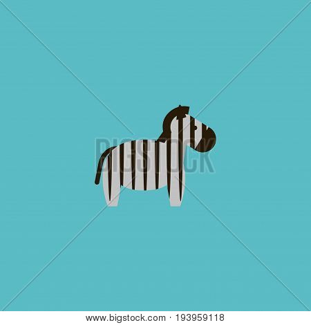 Flat Icon Zebra Element. Vector Illustration Of Flat Icon Horse Isolated On Clean Background. Can Be Used As Horse, Zebra And Animal Symbols.