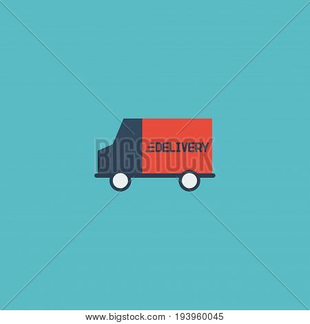 Flat Icon Delivery Element. Vector Illustration Of Flat Icon Bus  Isolated On Clean Background. Can Be Used As Bus, Truck And Delivery Symbols.