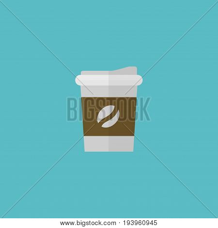 Flat Icon Coffee Element. Vector Illustration Of Flat Icon Break  Isolated On Clean Background. Can Be Used As Coffee, Break And Drink Symbols.
