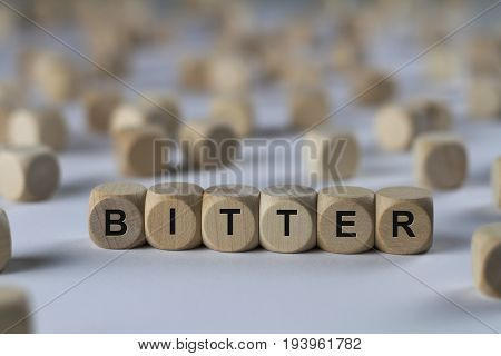 Bitter - Cube With Letters, Sign With Wooden Cubes