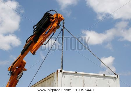 The crane about a cargo