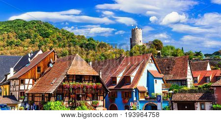 Kaysersberg - one of the most beautiful villages of France, Alsace region