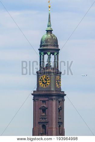 St Michaelis (st Michael) Church In Hamburg Hdr