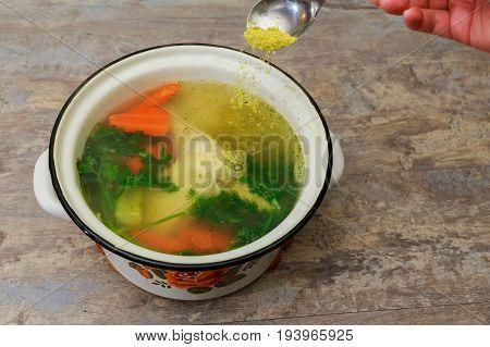 I Make Chicken Broth In Pot Chicken Broth