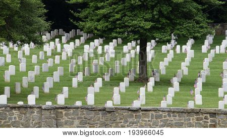 Civil War Cemetery, historic Annapolis Maryland, headstones, graveyard, burial grounds, rest in peace