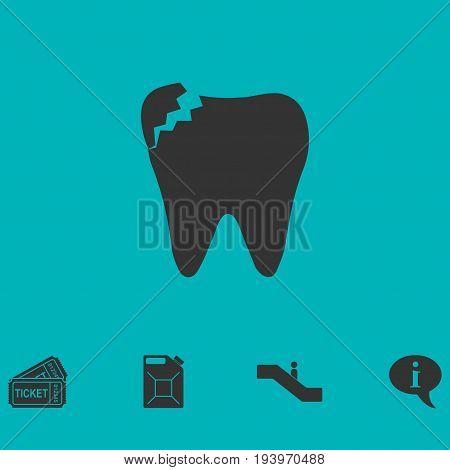 Dental Problem icon flat. Simple vector symbol and bonus icon
