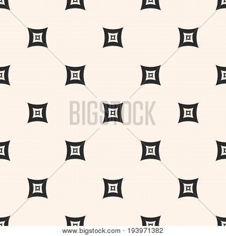 Monochrome seamless pattern. Geometric vector texture with smooth outline squares, staggered array. Subtle abstract background repeat tiles. Design pattern, textile pattern, covers pattern, digital pattern, web pattern.