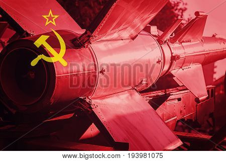 Weapons Of Mass Destruction. Soviet Union Icbm Missile. War Background.