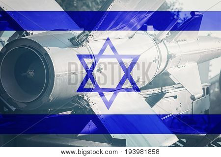 Weapons Of Mass Destruction. Israel Icbm Missile. War Background.