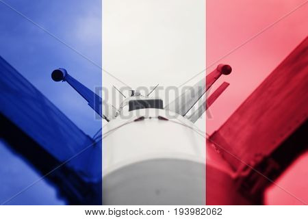Weapons Of Mass Destruction. France Icbm Missile. War Background.