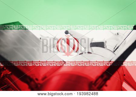 Weapons Of Mass Destruction. Iran Icbm Missile. War Background.