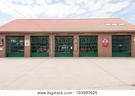 Wangerooge, Germany.  04Th July 2017:  View Of The Local Fire Service On The Island Wangeroog