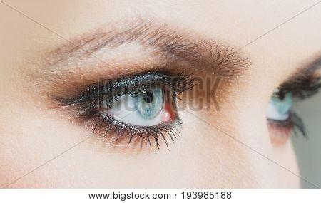 Blue Eyes With Bright Shadows