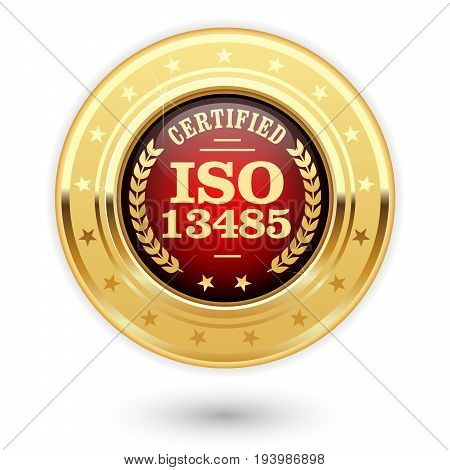 ISO 13485 certified medal - Medical devices