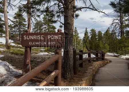 Sunrise Point Sign