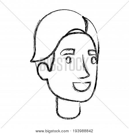 blurred silhouette of man face with hair side fringe vector illustration
