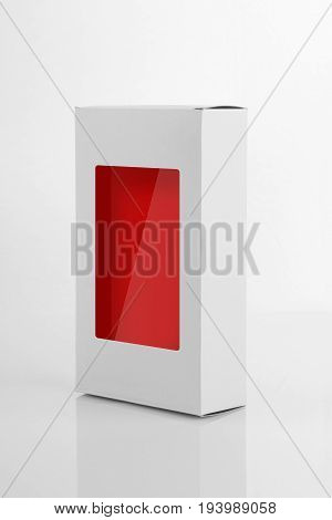 White Board Product Packaging Box with a window