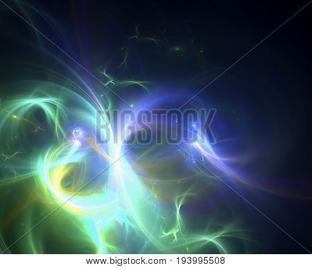 Abstract fractal image on the black background