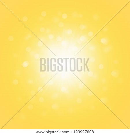 Yellow Soft Bright Abstract Bokeh Background Soft Glow of the Sun Defocused Lights