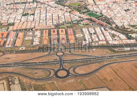 Bird's eye view of the traffic junction