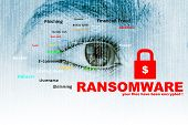 Ransomware,Cyber security concept,3d illustration concept and ideas poster