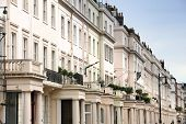Belgravia in West London UK. Affluent neighborhood in the City of Westminster and the Royal Borough of Kensington and Chelsea. poster