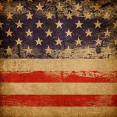 Grunge american patriotic theme background. poster