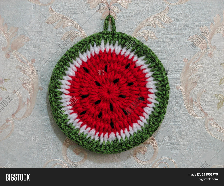 Handmade Crochet Pot Image Photo Free Trial Bigstock