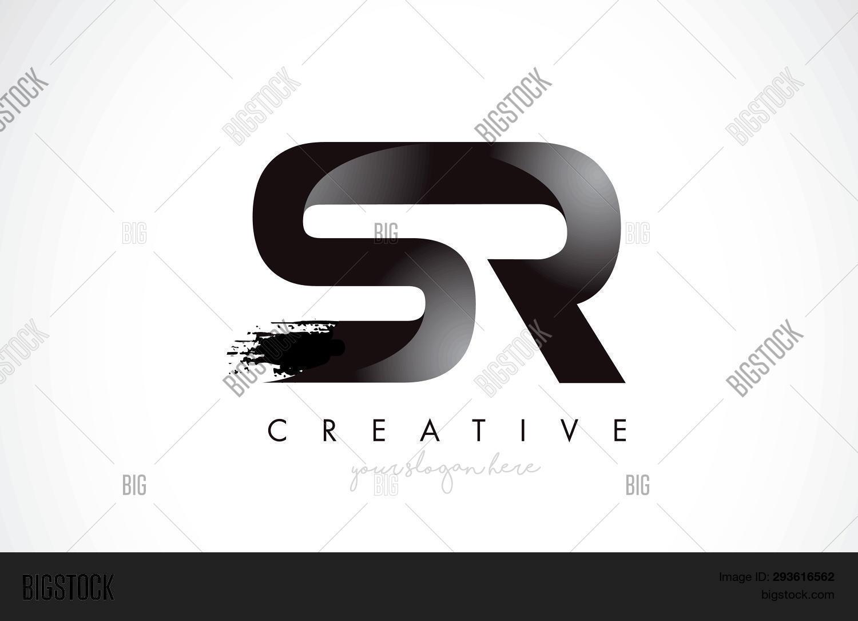 Sr Letter Design Vector & Photo (Free Trial) | Bigstock