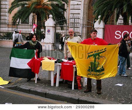 Anti-Israeli demonstrators