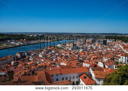 View Of Coimbra City From Coimbra University In Portugal