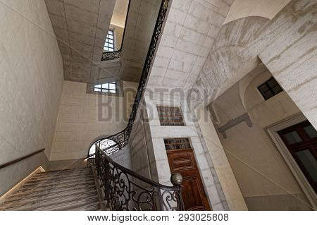 Lyon, France, March 24, 2019 : Formerly An Hospital, Grand Hotel-dieu Is Now A Fashionable Shopping