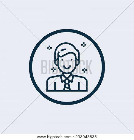Employee Icon Isolated On White Background. Employee Icon Simple Sign. Employee Icon Trendy And Mode