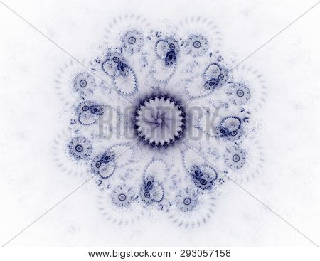 Geometric Spiral That Falls Down. Abstract Colorful Fractal Texture.