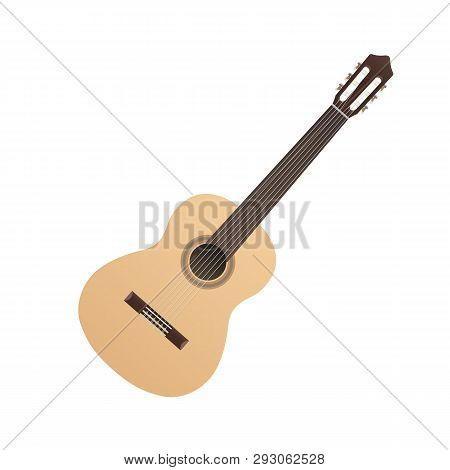 Classical Guitar Light Musical Strings Instrument Hispanic Flamenco Music Object Vector