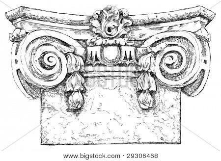 Hand draw sketch chapiter. Vector illustration.