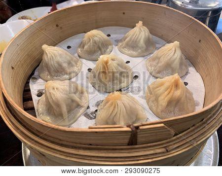 Chinese Soup Dumplings Also Known As Xia Long Bao.