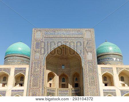 Mir-i-arab Madrasah, Unesco World Heritage Site In Bukhara, Uzbekistan. Miri Arab Madrasah. Mir-i Ar