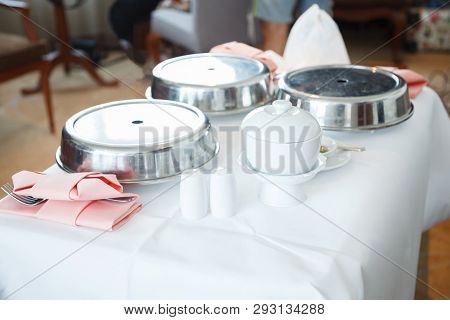 Room Service (in-room Dining) Is Hotel Food And Beverage Delivery Service For Guests Or Customers On