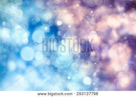 Bokeh Light Background, Christmas And New Year Holidays Background