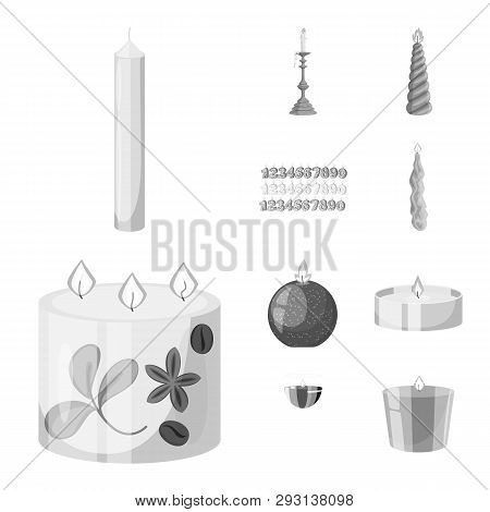 Isolated Object Of Paraffin And Fire  Sign. Set Of Paraffin And Decoration    Stock Vector Illustrat