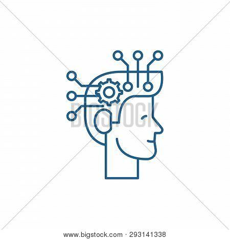 Strategic Thinking Line Icon Concept. Strategic Thinking Flat  Vector Symbol, Sign, Outline Illustra
