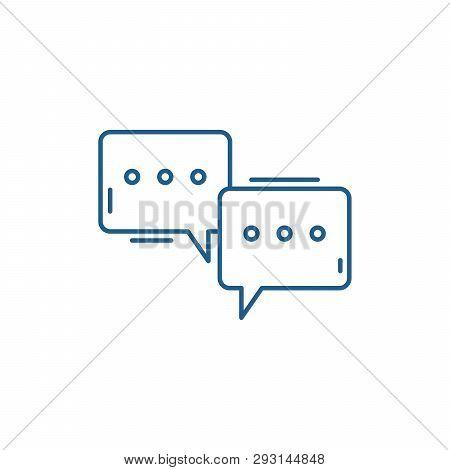 Symposium Line Icon Concept. Symposium Flat  Vector Symbol, Sign, Outline Illustration.