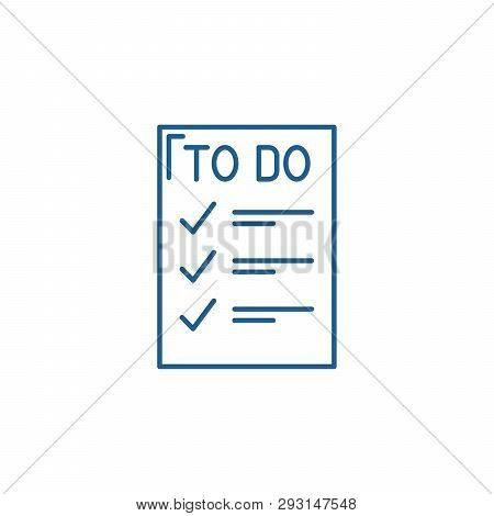 To Do List Line Icon Concept. To Do List Flat  Vector Symbol, Sign, Outline Illustration.