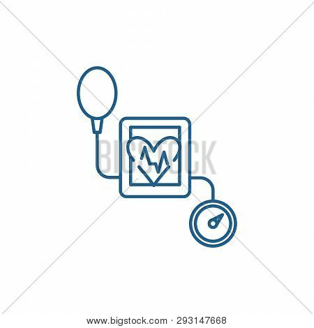 Tonometer Line Icon Concept. Tonometer Flat  Vector Symbol, Sign, Outline Illustration.