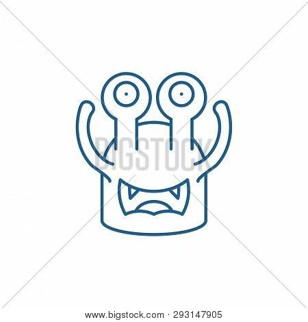 Toothy Cast Line Icon Concept. Toothy Cast Flat  Vector Symbol, Sign, Outline Illustration.