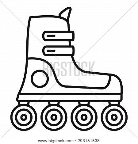 Race Inline Skates Icon. Outline Race Inline Skates Vector Icon For Web Design Isolated On White Bac