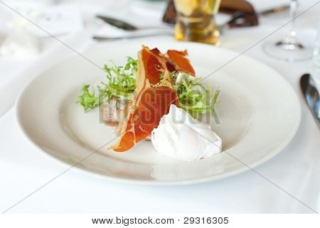 Prosciutto And Poached Egg