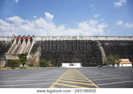 Khun Dan Prakan Chon Dam Was Formerly Named Khlong Tha Dan Reservoir At Ban Tha-dan In Hin Tang Subd