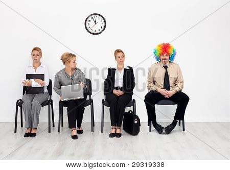 There's One In Every Crowd - Clown Among Job Candidates
